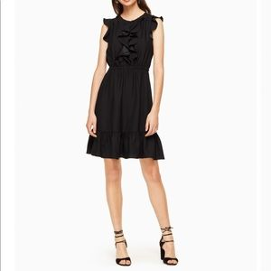 Kate Spade Crepe Ruffle Dress